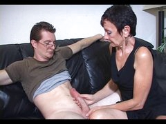 Mum Marie makes his large pecker cum