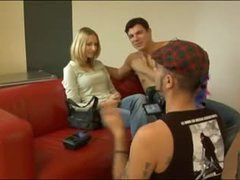 1st timer does a casting couch movie scene