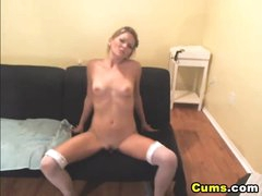 Golden-haired Intense Dildo Penetration HD