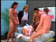 80s porn team fuck with bushy hair girl