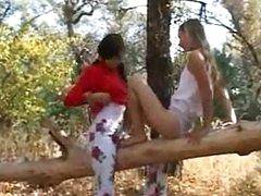 Naughty legal age teenagers absolutely in nature's garb in forest