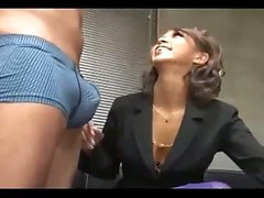 Hot Office Lady Giving Oral pleasure On Her Knees Cum To Mouth Swallowing On The Floor In The Office