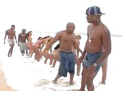 Brazilian Outdoor Orgy