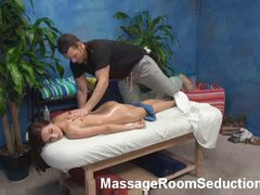 Worthy blonce angel seduced in massage room