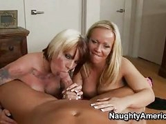 Sex Bombshell Austin Taylor Shares A Pulsating Jock With Her Tatalsoed Girlally