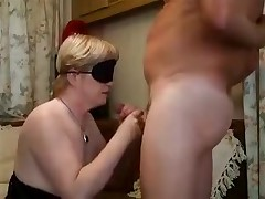 Blond lady with a blindfold is coercive to feel her way to a hard boner previous to putting it in her mouth. The epic blowjob gets a little also sexy and that babe need to take a break with a hand job in betwixt the deep throats.