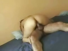 Handsome woman rides husband's firm schlong and cries out loudly because this babe feels lots incredible orgasms.