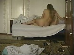 Concupiscent golden-haired chick joins her boyfriend in the ottoman to have a wild fuck session with him. This babe greedily sucks his piston then acquires fiercely slammed in every position.