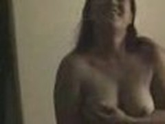 Insatiable and wild, this chubby chick loses any control when sees home camera in her lover's arms. That sweetheart exposes large boobs and eats pecker.