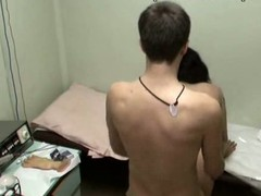 This nurse with full sticking love melons could be fired if her boss discovered out that babe was fucking with her patient in the physiotherapeutic room! Enjoy the spy clip with excited gal riding the dude and taking his pecker from behind!