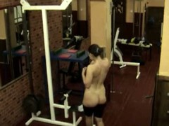 The same fat bimbo caught on cam in the gym when stripping and walking nude having no clue about the voyeur who filmed her shaggy pussy and yummy curves when that babe showed off in advance of biggest mirror!