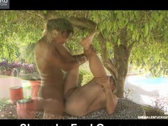 Hot swarthy t-girl feeds her obese sturdy shaft to a ready waiter at the cafe