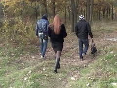 Wish To learn how to pick up a hot angel in a park and talk her into blowing u and your friend right there in the park? Okay, this video has all that u need to know about picking up women. This Hottie was a breasty redhead who had some free time, we were two horny dudes looking for pickup fuck, we were meant to receive jointly! Even though this chick hesitated at first, pretty in a short time this playgirl was showing her large bare milk sacks to us, and several minutes later that redhead playgirl was standing on her knees sucking one as well as the other of us off. ...