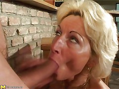 Stefana is a blonde aged bitch that loves to sucks dicks every time this chick can. Now this chick has in her throat a long ding-dong that this chick sucks it very priceless whilst this chick sitting on her knees. The younger guy is willing now to penetrate her deep so he begins fucking her pussy from behind making Stefana screaming of pleasure.