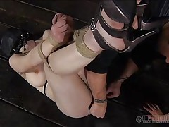 It's just some other one of these days for these sluts in which they receive humiliated beyond their limits. One of the girl lays bound up on the floor whilst the other one is putted to put in an oiled anal plug in that hawt ass, with her mouth! This chab obeys and sticks it in there pretty good.