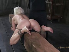 Marvelous slut Cherry is tied up on a wooden barn and an executor comes from behind and fucks her hot ass deep. She being treated like a piece of meat, exactly the way that babe likes it. Surely that fucking was just for warming up, much greater amount await this cutie. Stay tuned and find out what!