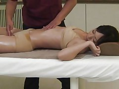 Its truly delightsome to see such a nice-looking babe taking massage in front of the eyes. Her hot and handsome body will definitely make your dick. The same is going with this fellow and after giving a fine fingering and fur pie rubbing he is shoving his big jock in this bitch's fur pie right from behind.
