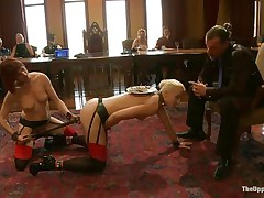 Dylan Ryan is a blonde milf with valuable natural pantoons who loves being an obeying sex slave. The sweet girl loves when somebody is inserting wooden poles in her shaved pussy. Watch her engulfing on that wang while this babe receives sex-toy fucked with roughness from behind. The kneeling babe gags his wang for more pleasure.