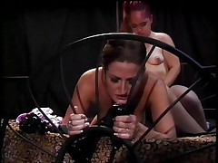 If u like midgets and cookie then this is for you! Here's Twigget, a cute redhead midget that is getting her cookie licked by Regan, a sexually excited milf with sexy boobs. Twigget spreads her legs and gets this milfs tongue in her cookie in advance of that babe thongs on a sex-toy and begins fucking this milf from behind making her sexy zeppelins bounce. What are those cuties going to do next?