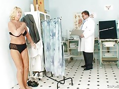 Greta often visits her doctor to check her body. During the time that she reaches there her doctor ordered her to put all her raiment off and then this guy begins his slit examination right after this guy squeezes her priceless boobs. U rally needs to watch where this doctor ends up his examination.