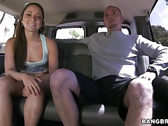 Cutie Remy LaCroix is one time again delighting us with her sex drive. This time the hot ass playgirl takes a ride white the bang bus and receives a hard jock between her soaked lips and in that tight shaved fur pie of hers. Look at her working hard for some cum, ridding the man in cowgirl position