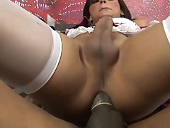 Attractive sex-obsessed ladyman engulf and fucks like hell