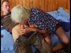 Busty German Granny bonks young Fellow