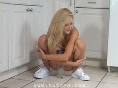 Piss: Ember Blond Legal age teenager Model - with superbody