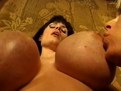 Massive meatballs are bouncing everywhere as those three voluptuous gals...