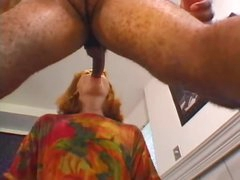 Aged redhead can't live without this fresh darksome cock