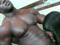 This hawt dark honey loves her dude to be big and black. See this...