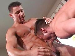 Hawt looking dude licks his wet asshole