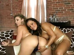 Lisa Ann And Sara Jay sexually concupiscent and juicy lesbo totty