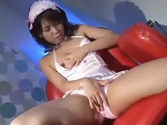 Japanese cutie rides and team-fucked hard
