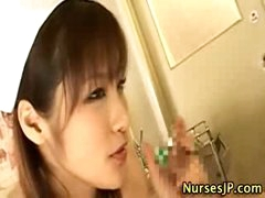 Japanese nurse in nylons