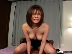 Breasty hottie Sana Yosizaki hairy love tunnel screwed