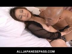 Busty japanese babe natsumi mitsu trades head and gets nailed